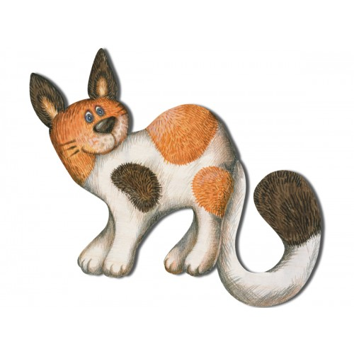 Rudobrązowy kot - dekor średni