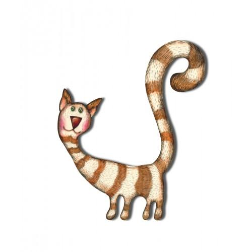 Kot skarpetka - magnes duży