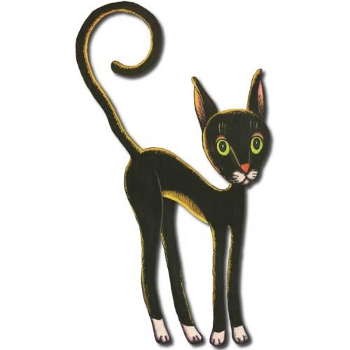 Czarny kot - dekor duży
