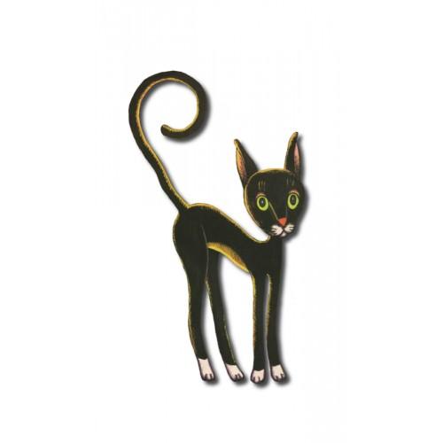 Czarny kot - magnes duży